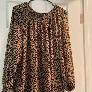 Leopard sheer shirt